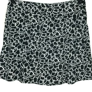 Lane Bryant Black White A Line Skirt